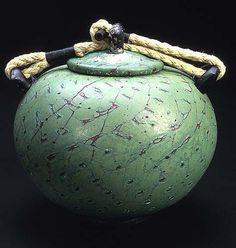 Cinerary urn   blown glass   9 x 9 x 9 inches