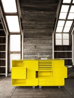 The Big Yellow. Composition in Tokyo Yellow. #montana #furniture #yellow #storage #system #sheving #solution