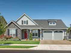 Eplans House Plan: This charming one-story plan features a facade that is accented by a stone pediment and a shed-dormer window. Inside, elegant touches grace the efficient floor plan. Vaulted ceilings adorn the great room an