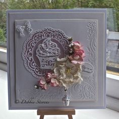 Hi everyone, Here is a sneak peek of one of the new tattered lace dies on tomorrow nights Tattered lace show. , Tune in tomorrow Ideal world 9pm for more details...Thanks for looking x