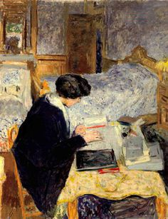 Lucy Hessel Reading, 1913. Oil on canvas. Edouard Vuillard, French, (1868-1940)
