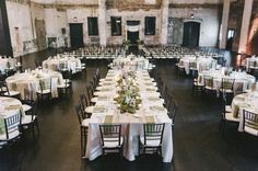 Putting ceremony & reception in the same space - maybe like this or divide with rented drapes?