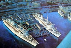 The Italian Line made a very bold, (and bizarre) attempt to take back national pride in the 1960s with the Michelangelo and Raffaello. Competing with the QE2, and the France, the twins were some of the last purpose built transatlantic liners of the 20th century. Not to mention a tremendous financial failure