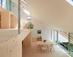 Japanese house design is one of the home design styles representing the minimalist appearance. Japanese House architecture looks. Modern Japanese Architecture, Space Architecture, Sustainable Architecture, Residential Architecture, Japanese Minimalist, Plywood Interior, Hillside House, Clerestory Windows, Skylights