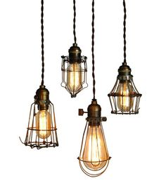 I'm in love with these old vintage cage lights