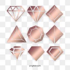 Geometric Heart, Geometric Lines, Geometric Background, Gold Gradient, Gold Glitter, Rose Clipart, Rose Gold Frame, Line Flower, Rose Background
