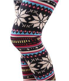 Retro Folk Fashion Snow Plus Thick Velvet Leggings from Cute Leggings - Womens Clothing -Atwish.com