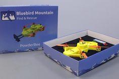 Futurnex: 'Powderbee' es un dron diseñado para realizar labores de búsqueda y rescate Dieter Rams, Transparent Design, Raise Your Hand, Search And Rescue, Blue Bird, Toy Chest, Technology, Activities, Tecnologia