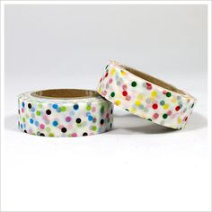 Cute for when using white wrapping paper. $9.00 for two rolls.