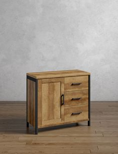 Baltimore Small Sideboard | M&S Home Living Room, Living Spaces, Small Sideboard, Great Gifts For Dad, Oil Shop, Made To Measure Curtains, Simple Bathroom, Adjustable Shelving, Industrial Style