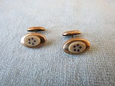 Victorian Cuff Links / Gold Filled with Celluloid and Amethyst Stars Inserts via Etsy