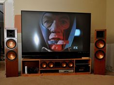 Home Cinema Room, Home Theater Furniture, Home Theater Setup, Home Theater Rooms, Home Theater Design, Tv Stand Designs, Living Room Tv Unit Designs, Audio Room, Home Tv