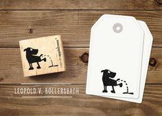 Stempel Leopold von Bollersbach von cats on appletrees auf DaWanda.com