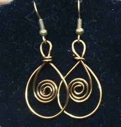Vintaj Copper Loop and Swirl Earrings by MontourDesigns on Etsy, $15.00