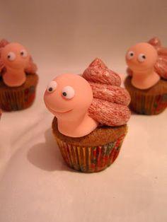 Schnecken-Cupcakes