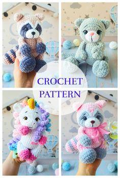 Kawaii Crochet, Crochet Disney, Crochet Bear, Crochet Gifts, Crochet Dolls, Crochet Animals, Caron Cake Crochet Patterns, Crochet Motif, Diy Sewing Projects