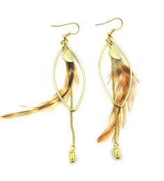 Equisite Leaf Gold Earrings @ MayKool.com