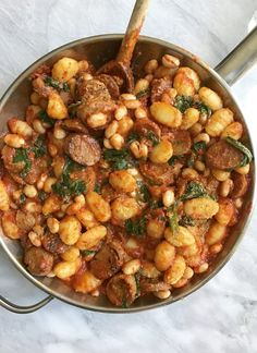 Spicy Tomato Gnocchi With White Beans, Spinach