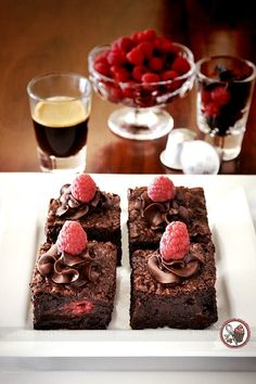 sweetest kitchen | Raspberry Chocolate Chunk Brownies Infused With Nespresso Cioccorosso