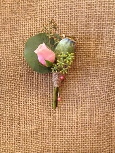 Pod with rose bud. From Lucy's informal flowers