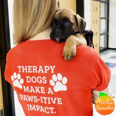 Goose - the therapy dog - is training to have a positive impact in therapy sessions, emotional support, and other K-9 therapy skills.