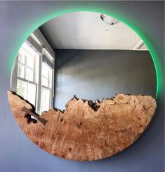 Live Edge Mirror With LED Lighting – Woodbee Woodworks