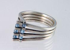 Mette Jensen - FlourishRing in silver and blue onyx £180