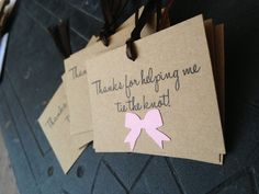 Bridesmaid Thank You Tags, (25), Bridesmaid Gifts, Wedding Party Thank You Tags for Sale, Thanks for Helping Me Tie the Knot
