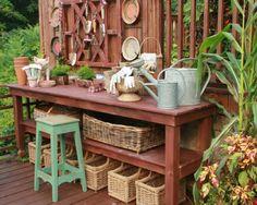 Mesa de trabajo jardin