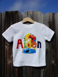 87b29a6a sesame street birthday clothes | Personalized Birthday Shirt - Sesame Street  - Shirts - Home: