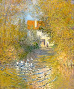 bofransson:  Claude Monet - Geese in the Brook 1874