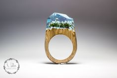 wood resin ring forest