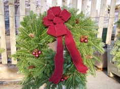 Wreath with at Bow at Hamilton Farms in Boonton Twp, NJ