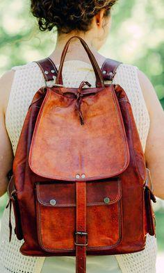 Vintage books deserve a vintage, leather bag!