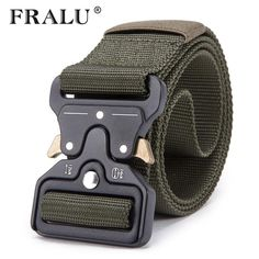 Men Outdoor Hiking Sport Waistband Army Tactical Military Trouser Buckle Belt AL