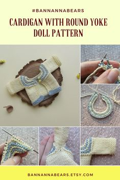 Try this detailed doll cardigan pattern to knit this cute sweater for your toy! Dress up your Blythe, Waldorf doll, Paola Reina or amigurumi crochet toys in this cardigan with round yoke.How to Crochet a Basic Doll - Crochet Ideas Knitting Dolls Clothes, Sewing Toys, Knitted Dolls, Doll Clothes Patterns, Crochet Dolls, Knit Crochet, Sewing Crafts, Knitting Patterns, Crochet Patterns