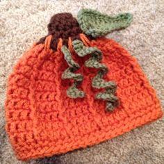 Free Crochet Pattern Pumpkin Hat With Leaves Salena Baca Crochet