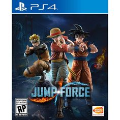 """""""Jump Force,"""" priced at for PlayStation 4 and Xbox One, features Goku from """"Dragon Ball,"""" Luffy from """"One Piece,"""" Naruto from """"Naruto"""" and many others. Xbox One Games, Ps4 Games, Playstation Games, Games Consoles, Star Citizen, God Of War, Anime Ps4, Attack On Titan, Mundo Dos Games"""