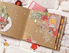 "Фабрика декору: Совместный новогодний проект ""New Year Big Party"". 2 этап. Mini Scrapbook Albums, Scrapbook Page Layouts, Scrapbook Pages, How To Make Scrapbook, Mini Album Tutorial, Handmade Books, Handmade Decorations, Mini Books, Journaling"