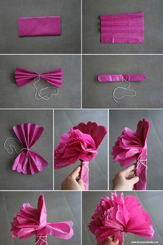 Decorar con pompones de papel de seda ¡Hazlo tú mismo! | Decorar en familia | DEF Deco