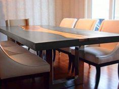 Les TABLES béton befup. Comme pour toutes mes fabrications vous choisissez la teinte, la forme, le type de piètement, voici quelques exemples de réalisations: Les différentes formes de piètements possibles: Piètement par CAISSON CENTRAL MENUISE Table...