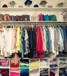 Who what wear organized closet.