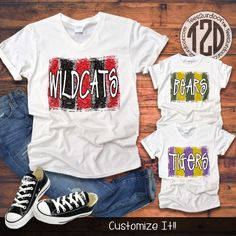 Brush Stroke Custom T-Shirt Flat Image School Spirit Shirts, School Shirts, Teacher Shirts, Cheer Shirts, Team Shirts, Pride Shirts, Monogram T Shirts, Personalized Shirts, Custom Sports Shirts