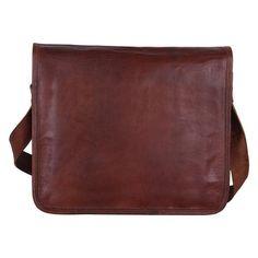Handmade Leather Messenger Bag College Bag Office Bag for Men Women