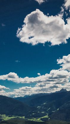 Nature Sky Cloud Mountain Green Summer #iPhone #5s #wallpaper