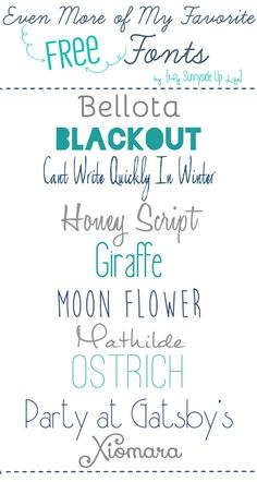 Even More of My Favorite FREE Fonts  ~~ {10 free fonts w/ links}