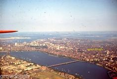 35mm-Slide-Boston-Aerial-View-Red-Border-c-1947-Massachusetts