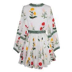 Ella Dress Multi Flower (€315) ❤ liked on Polyvore featuring dresses, flower dress, sexy short dresses, blossom dress, short flower dresses and short dresses