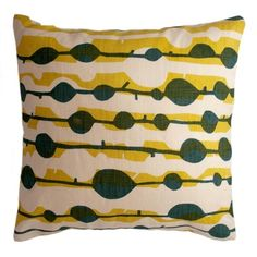 Ocean + Goldenrod Kelp Pillow Cover