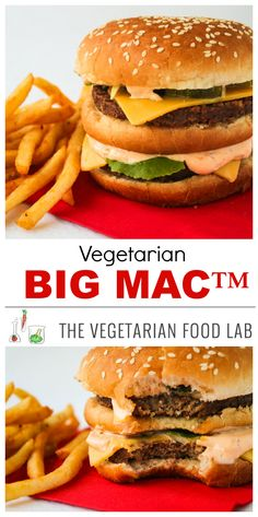Copycat recipe for an insanely scrumptious vegetarian Big Mac™